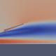 Représentation en couleurs du module de vitesse